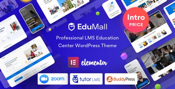 EduMall 2.9.4 – Professional LMS Education Center WordPress Theme
