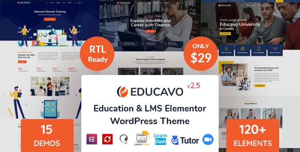 Educavo v2.7.8 – Online Courses & Education WordPress Theme