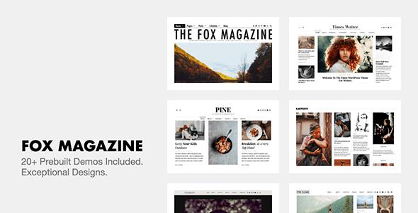 The Fox 4.6.9.1 – Minimal WordPress Blog Magazine Theme