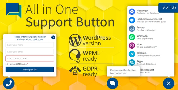 All in One Support Button 2.1.7 Nulled