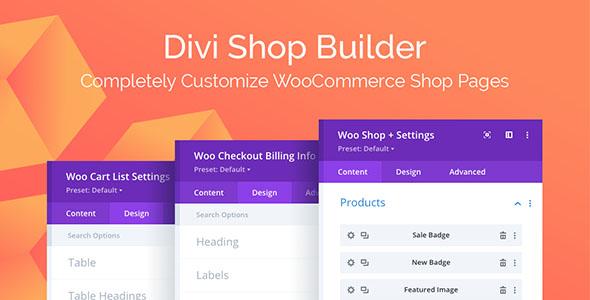 Divi Shop Builder 1.1.21 – WooCommerce Plugin