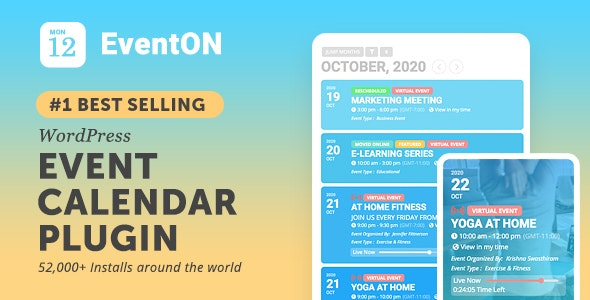 EventOn 3.1.7 Nulled - WordPress Event Calendar Plugin