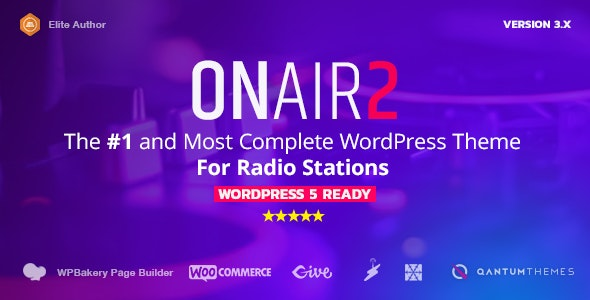 Onair2 v3.9.9.4 - Radio Station WordPress Theme With Non-Stop Music Player