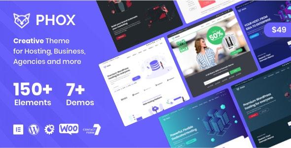 Phox 2.0.5 Nulled – Hosting WordPress & WHMCS Theme
