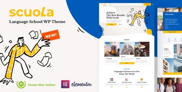 Scuola 5.0 Nulled – Language School WordPress Elementor