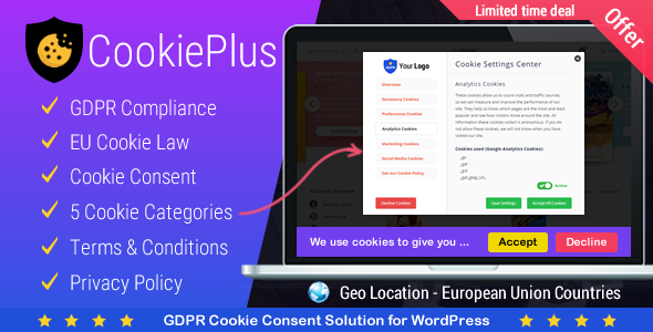 GDPR Cookie Consent 2.3.6 Nulled – Plugin for CCPA and GDPR