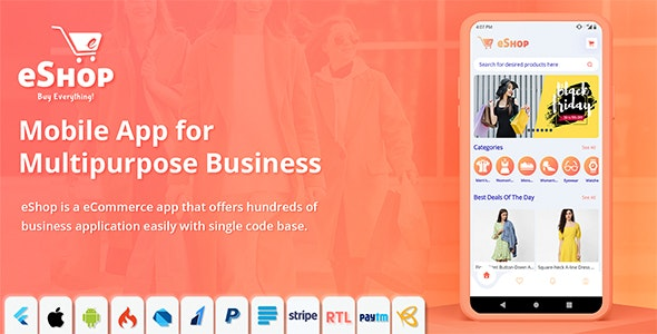 eShop 2.0.5 – Flutter E-commerce Full App