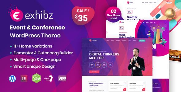 Exhibz 2.3.4 – Event Conference WordPress Theme