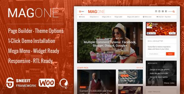 MagOne 8.0.0 – Newspaper & Magazine WordPress Theme