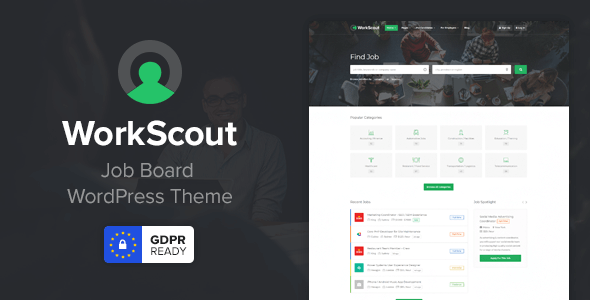 WorkScout 2.1.03 Nulled - Job Board WordPress Theme