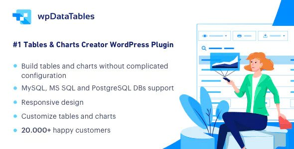 wpDataTables 3.6.0 – Tables and Charts Manager for WordPress